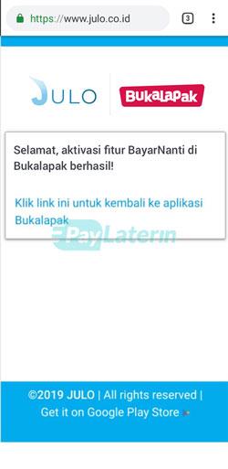 Klik Link Bukalapak Paylater